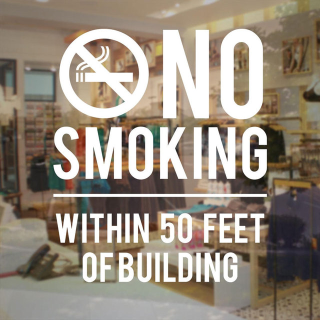 No Smoking Within 50 Feet Of Building Sign Store Business Vinyl