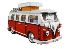 New LEPIN 21001 Creator Volkswagen T1 Camper Van Model Building Kits Minifigures Bricks Toys Compatible Legoe