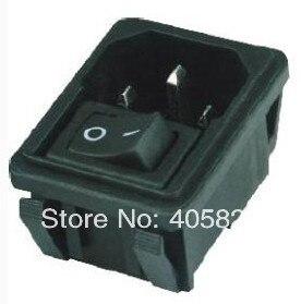 AC Power Socket AS-09,AC inlet,include rocker switch inside