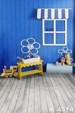 Baby Digital Printed Custom Background For Photo Studio Blue Wall Props Blanket Wood Floor Backdrops Photograph 150cm x 200cm