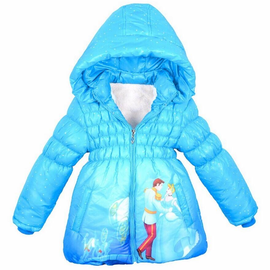New Baby Girls Snow White Jacket Kids Cotton Keeping Warm Winter Coat Chirdren Character Lovely Hoodies Outerwear