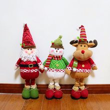 Christmas Santa Claus Snowman Elk Standing Gadgets Non-Woven Doll Xmas Home Table Decor Christmas Tree Ornament Accessories