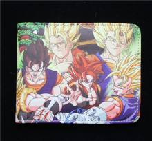 Dragon Ball Z wallet Son Goku 2 style wallet Japan anime cosplay cartoon bifold purse short wallet