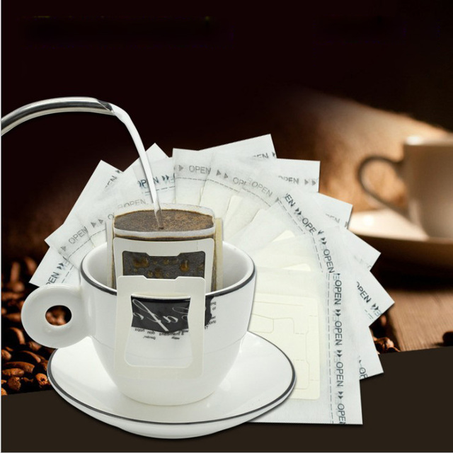 50pcs Bag Portable Drip Coffee Cup Filter Bags Tea Hanging Filters