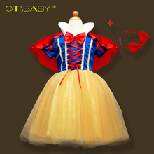 OTISBABY 4 layers Snow White Cosplay Dresses for Girls Party Princess Dress Children's Tulle Dress Baby Girl Tutu Dress Infant