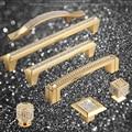 Super Luxus 24K Reales Gold Tschechische Kristall Schublade Schrank Knöpfe und Griffe Tür Griff Möbel Knöpfe Pull Griffe, nicht Verblassen