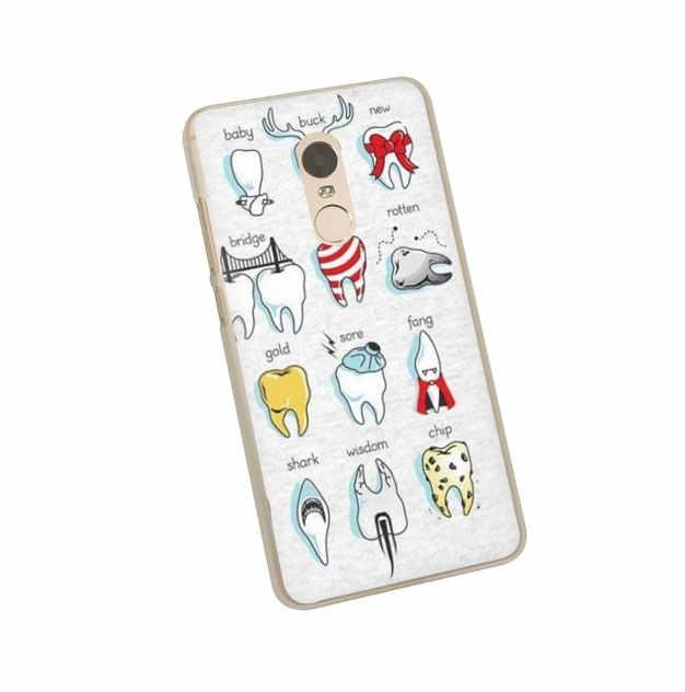 Dễ Thương Răng Khôn Răng Cứng Bao Bọc Điện Thoại Ốp Lưng Cho Xiaomi Redmi 8A K20 5 Plus Đi 6A Note 8 5 6 Pro 4X7