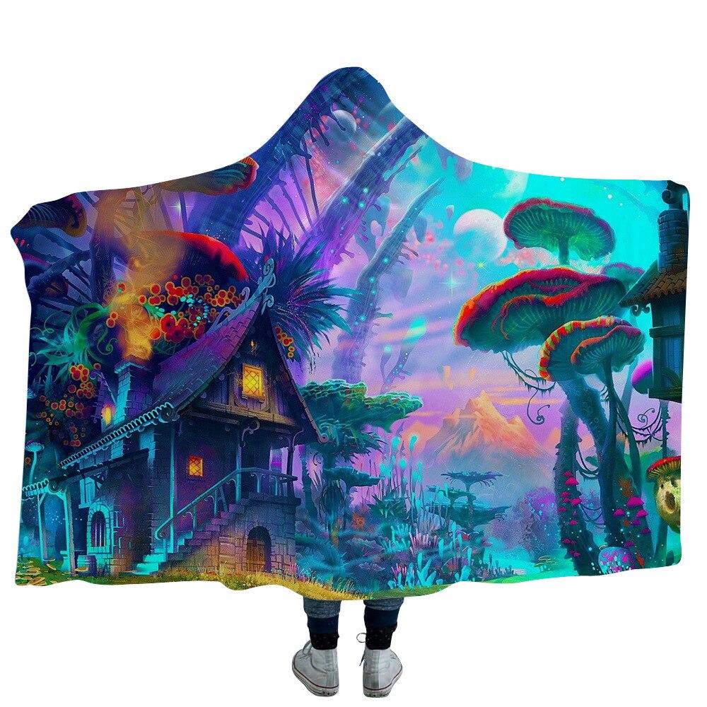 3d beautiful landscape hooded blanket