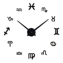 Hot fashion Diy mirror acrylic wall clock clocks home decoration modern big sticker still life quartz needle watches