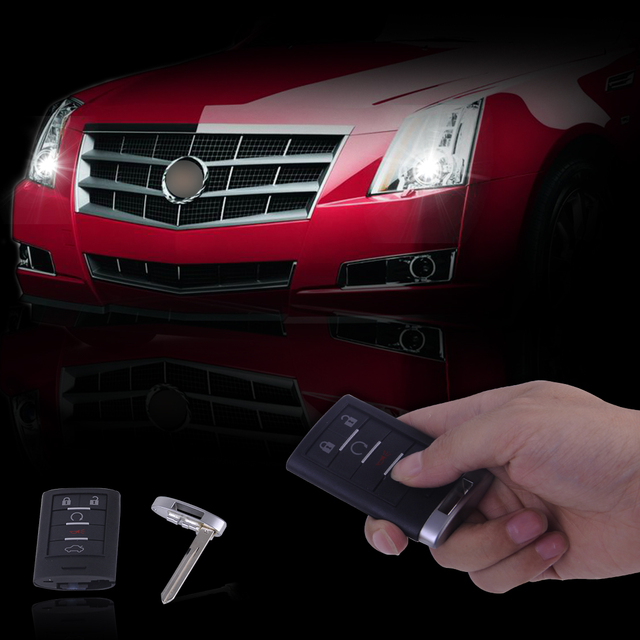 Beler 5 On Remote Key Shell Fob Case Blank Replace Keyless Entry For Cadillac Cts Dts Sts 2006 2007 2008 2009 2010 2017