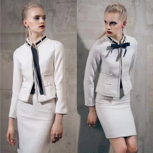 Amazing women's suits,elegant tweed jacket and skirt two piece set,plus size coat female spring 5xl 6xl crop top and skirt set