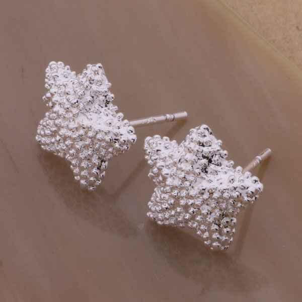 AE142 Hot 925 Bông Tai Nữ Bạc, Bạc 925 trang sức thời trang, ngôi sao năm cánh dát đá/bztakraa akfajbma