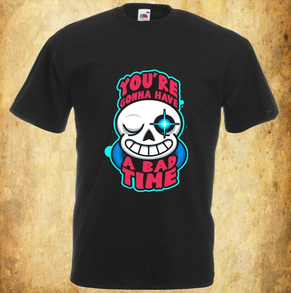 Хлопковые рубашки Undertale вдохновил футболка ты собираешься иметь плохое времени видео игр 100% хлопковые рубашки ...