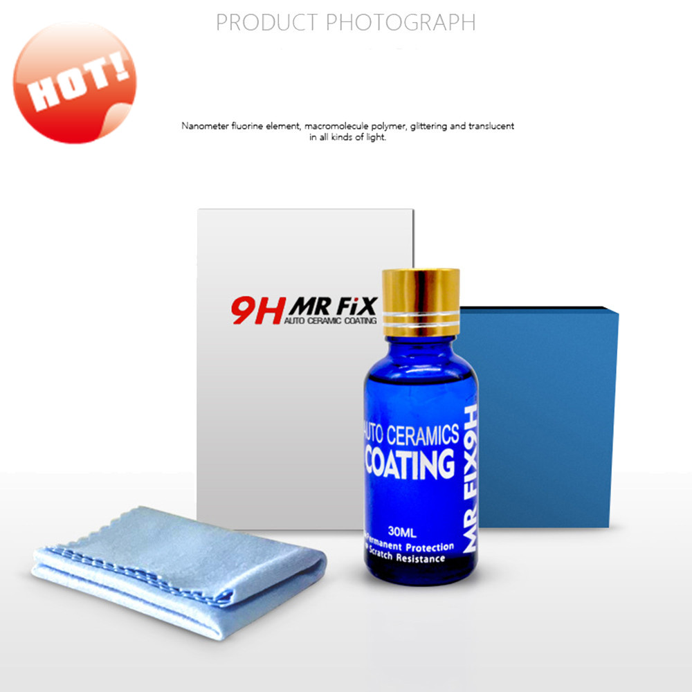 Hot Sale 30ML 9H Car hardness super hydrophobic Glass Coating Car Liquid ceramic Coat Au ...
