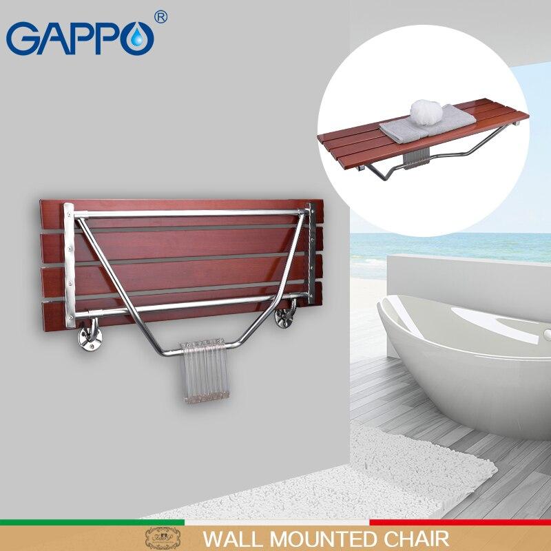 GAPPO Fixado Na Parede Do Chuveiro Assento dobrável Banco para cadeiras de Criança dobrável Higiênico chuveiro Bath shower Tamborete Cadeira cadeira de banho
