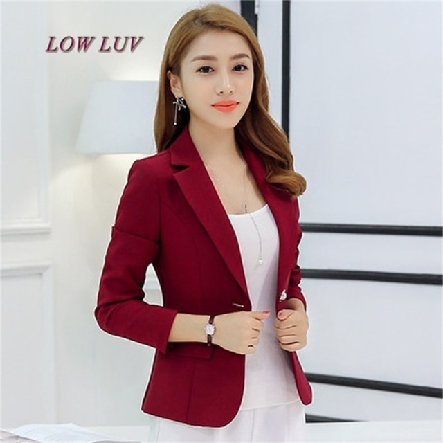 New Long Sleeved Slim Women Blazers And Jackets Small Women Suit