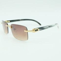 Мужские солнцезащитные очки без оправы buffalo, черные и белые квадратные очки без оправы, Затемненные оптические очки, Заполните рецепт