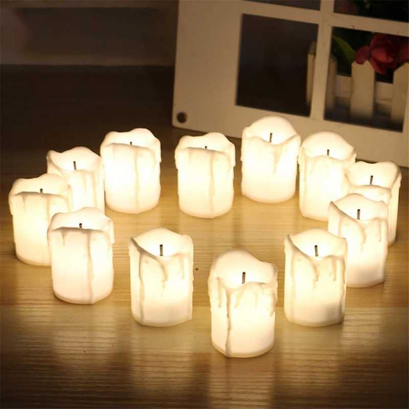 Helpful 12 Pcs Of Led Electric Battery Powered Tealight Candles Warm White Flameless For Holiday/wedding Decoration Fine Workmanship Home & Garden