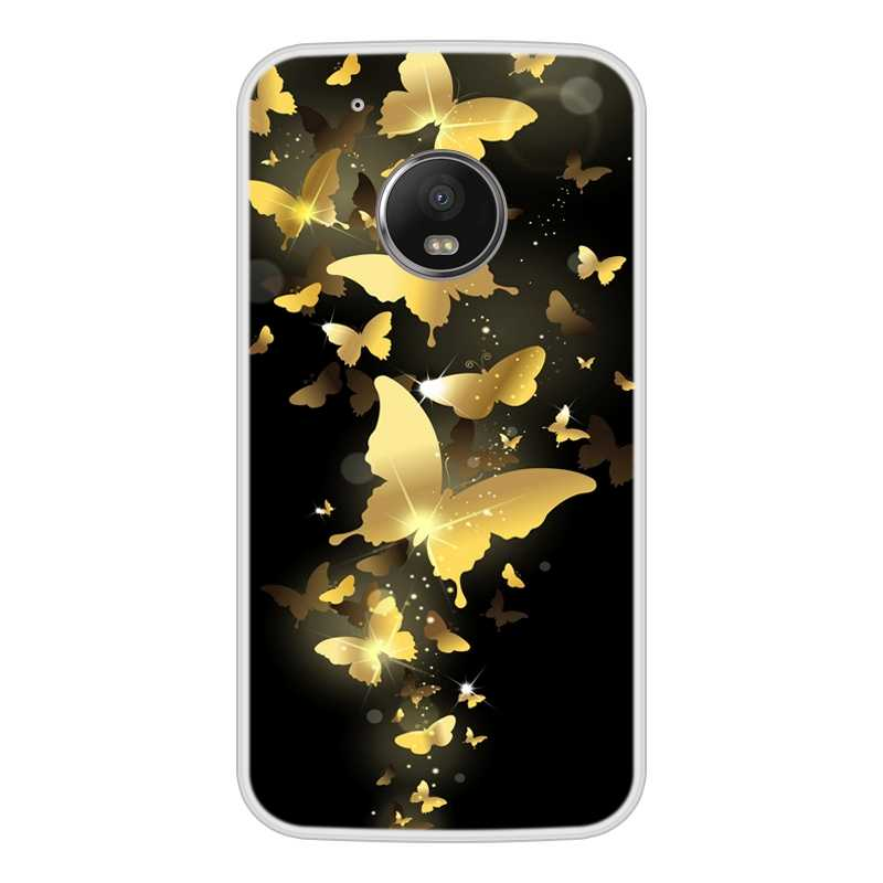 Ponsel Case untuk Motorola MOTO G5 TPU Silikon Lembut Desain Keren Pola Cetak untuk Motorola MOTO G5 Kasus