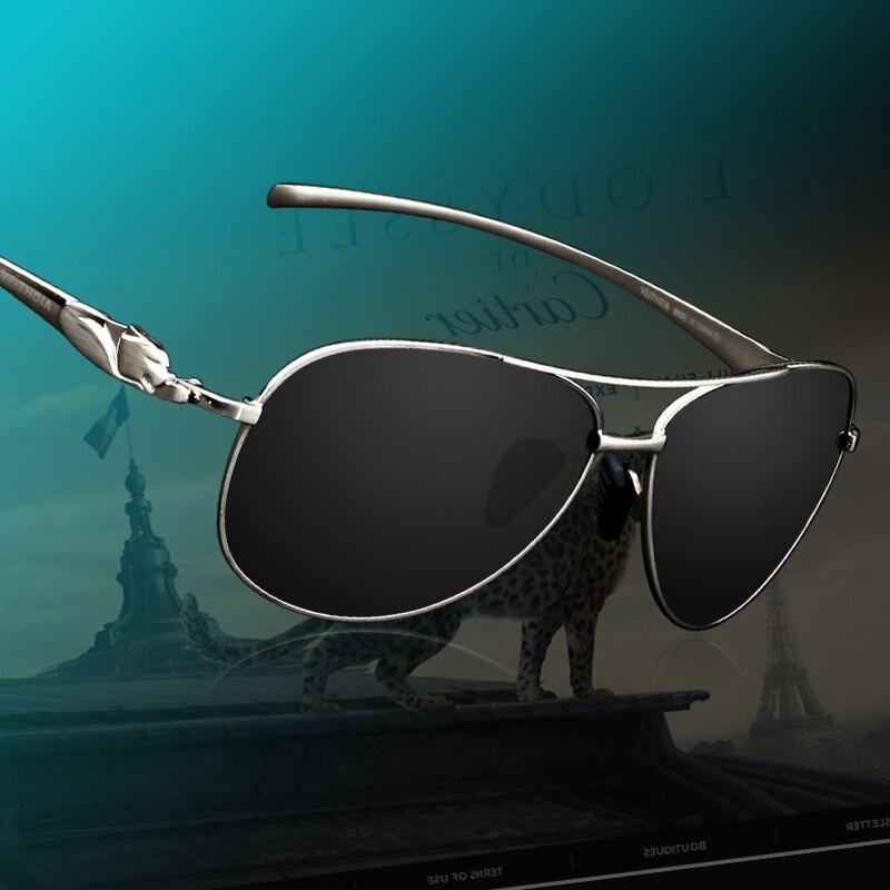 Fashion Polarized Men's Brand Sunglasses Leopard Head Designer Sun Glasses Women Driving Mirror Eyewear For Men 2468