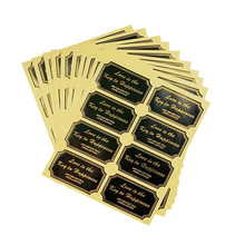 80 Pcs/lot Love is the key to happiness black Golden sealing Labels rectangle Sticker For Gift baking cake packing bags