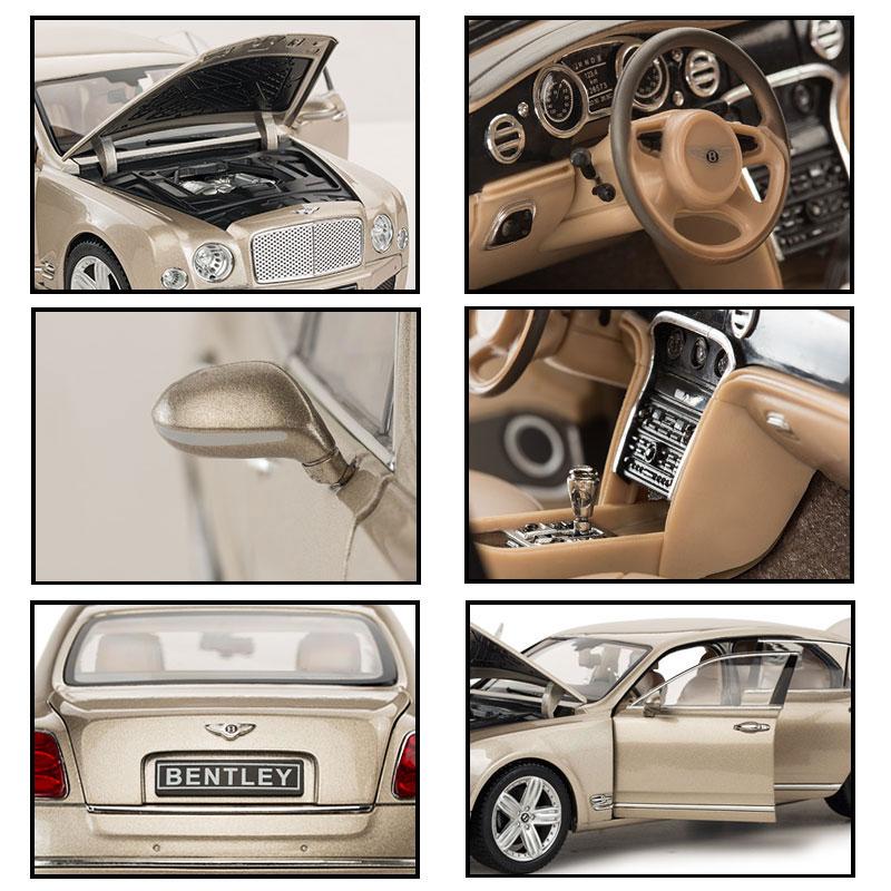 Simulation1//18 Mulsanne Limousine Alloy Diecast Model Car Collection Toy UK