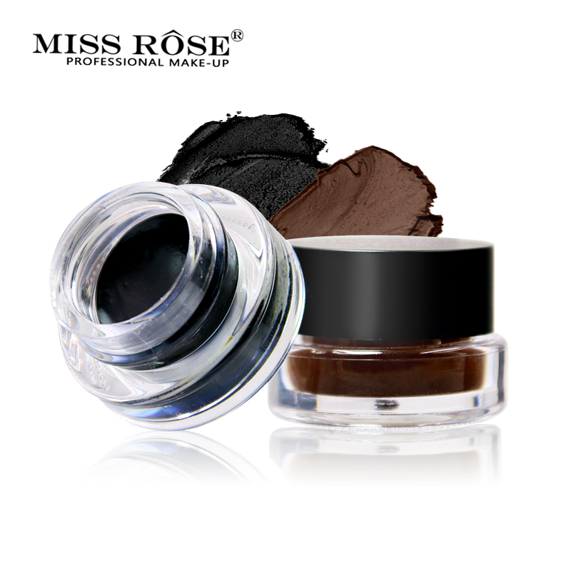Miss Rose Black and Brown Professional Eyeliner Cream Eye Liner 24 Hours Long Lasting Waterproof Makeup