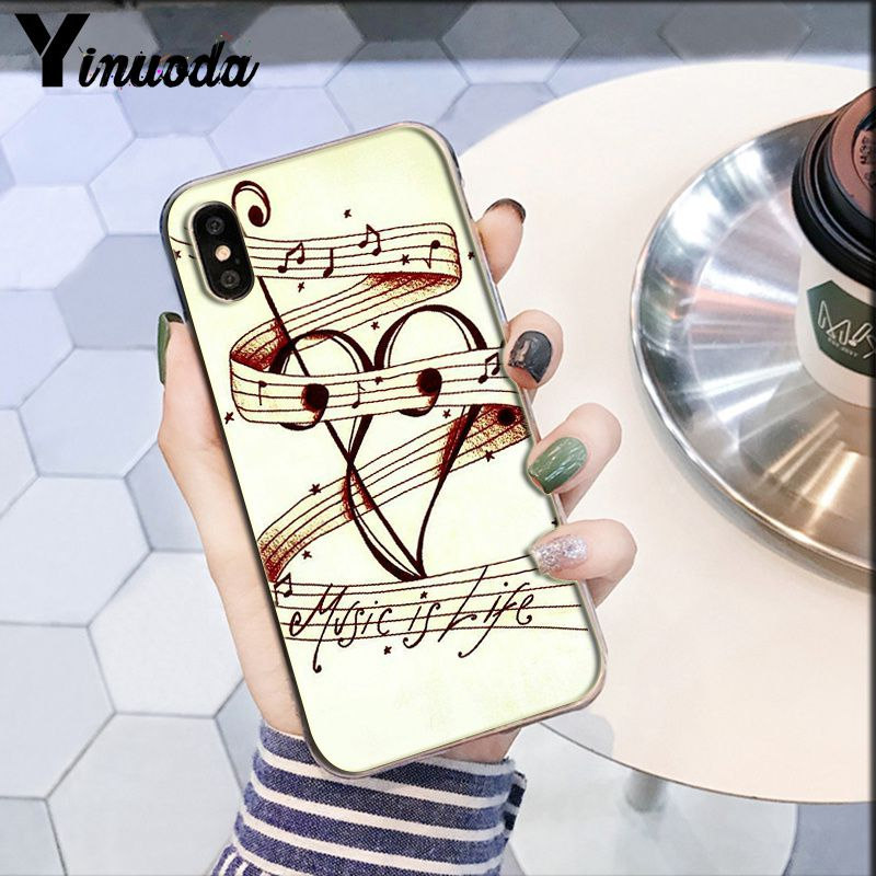 Image 4 - Yinuoda piano guitar music Newest Super Cute  DIY Phone Case cover Shell for Apple iPhone 8 7 6 6S Plus X XS MAX 5 5S SE XR-in Half-wrapped Cases from Cellphones & Telecommunications