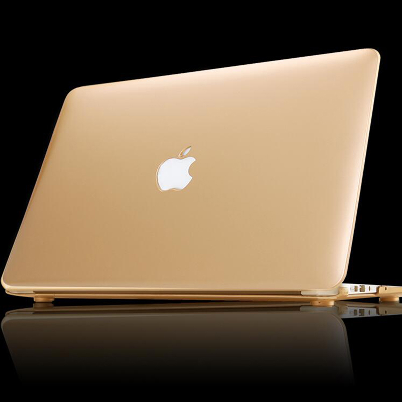 new matte gold silver case for apple macbook air pro retina 11 12 13 15 laptop bag for mac book. Black Bedroom Furniture Sets. Home Design Ideas