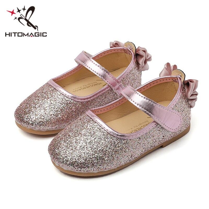 Hitomagic Prinzessin Schuhe Für Mädchen Kinder Kinder Schuhe Mädchen Leder Wohnungen Rosa Strass Kristall Marke Hochzeit Sommer Schuhe