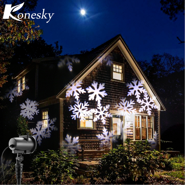 Xmas Christmas Decoration Lamp 8W Remote Control LED Projector - christmas decoration projector