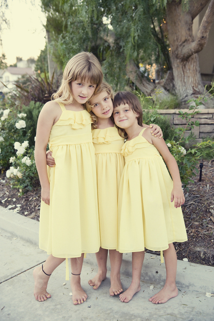 Aliexpress buy cheap light yellow flower girl dresses new cheap light yellow flower girl dresses new arrival beautiful sapghetti straps chiffon gown high quality mightylinksfo