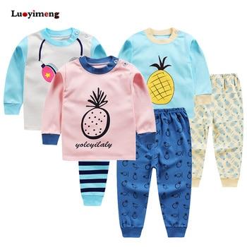 3ef19d9722 Conjunto de ropa de dormir de manga larga para niños Otoño Invierno para  Niñas Ropa conjunto de dibujos animados 2 piezas ropa de bebé pijamas de  algodón ...