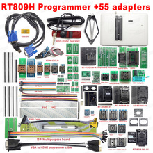 100% Original Universal RT809H EMMC Nand FLASH Programmer + 55 ADAPTERS WITH BGA169 BGA48 BGA63 BGA64 Adapters