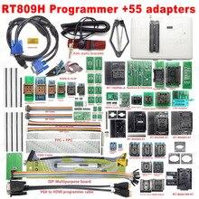 100% original universal rt809h emmc nand flash programador + 55 adaptadores com bga169 bga48 bga63 bga64 adaptadores