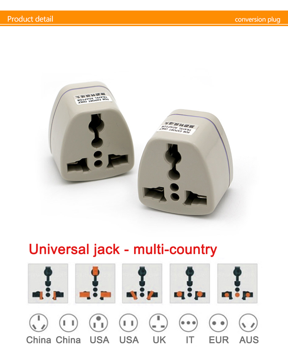 Universal UKUSEUAU to Small South Africa Plug AC Power Multi Outlet Adapter 3 pin Travel Converter Socket India travel (5)