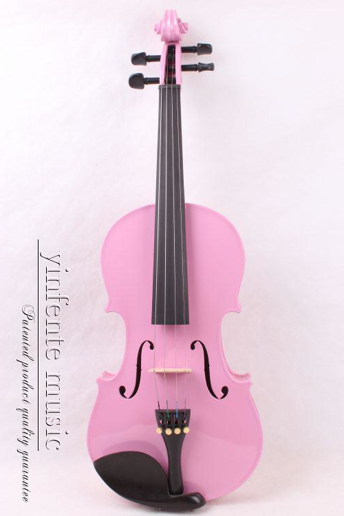 1/4 High quality EBONY STUDENT VIOLIN pink color