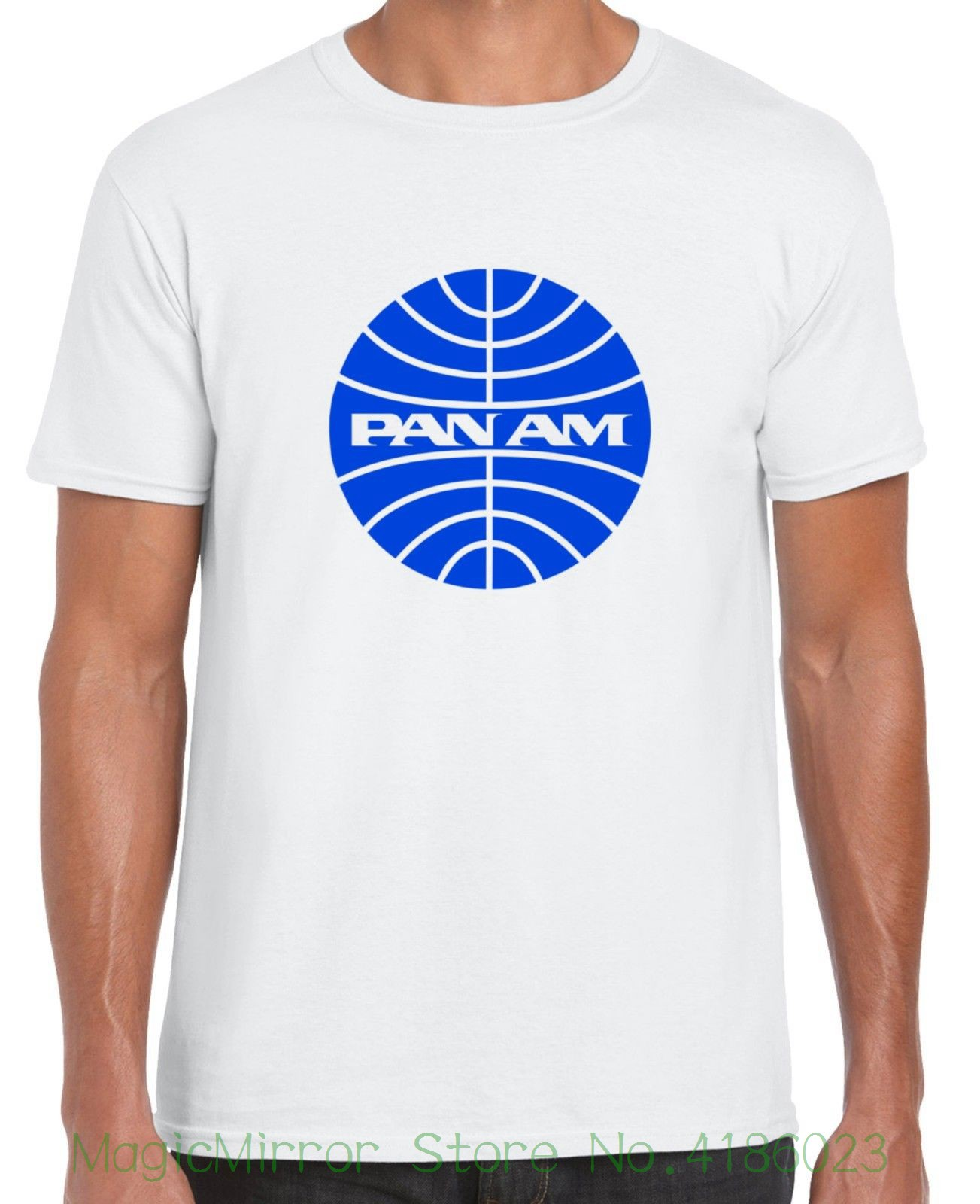Pan Am T-shirt ( Branded American Airlines Bankrupt Company ) Pre-cotton Tee Shirt For Men