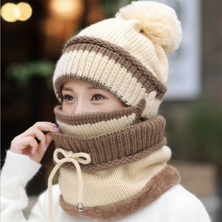 2018-HOT-Winter-Beanie-Hat-Scarf-and-Mask-Set-3-Pieces-Thick-Warm-Knit-Cap(1)