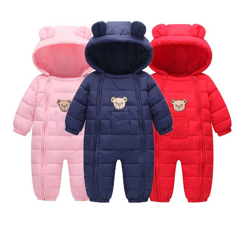 Winter Newborn Baby Clothes 2017 New Warm Baby Winter Rompers Baby Girl Boy Rompers Cotton-padded Jumpsuit Overalls for Kids baby overalls long sleeve rompers clothing cotton dog anima 2017 new autumn winter newborn girl boy jumpsuit hat indoor clothes