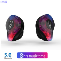 TWS Sport Mini Bluetooth Earphone with Mic In ear Wireless Headset Music Earbud Bluetooth 5.0 Noise Canceling With Charging Box