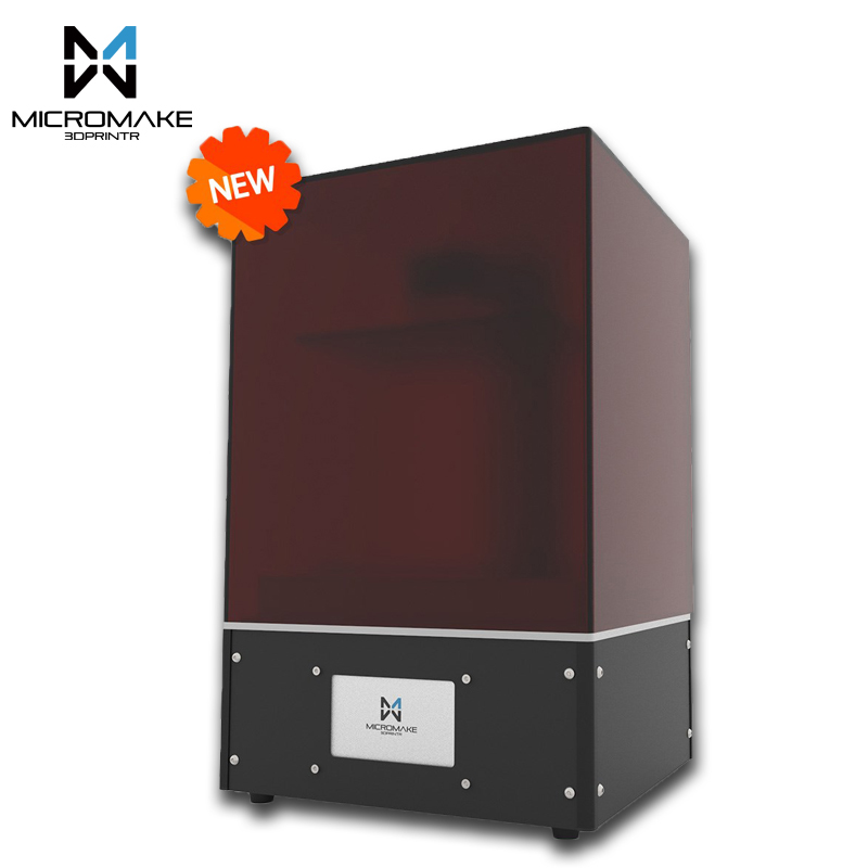Micromake new light curing L4 SLA/LCD/DLP 3D printer print volume 190*120*225mm 24um accuracy for Jewelry dentistry