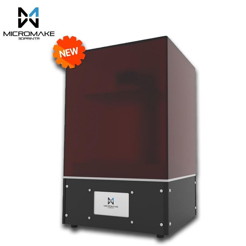 Micromake nuova luce che cura L4 SLA/LCD/DLP 3D stampante volume di stampa 190*120*225mm 24um precisione per Monili odontoiatria