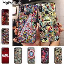 MaiYaCa marvel batman superman de lujo caja del teléfono para xiaomi mi 6 8 se note2 3 mi x2 redmi 5 5 plus nota 4 5 5 caso coque(China)