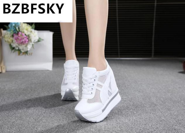 2018 New Women Sandals Print Gladiator Summer Shoes Wedges Open Toe Platform Sandals Lace up 11CM High-Heeled Shoes Woman Female gktinoo summer shoes woman genuine leather sandals open toe women shoes slip on wedges platform sandals women plus size 34 43