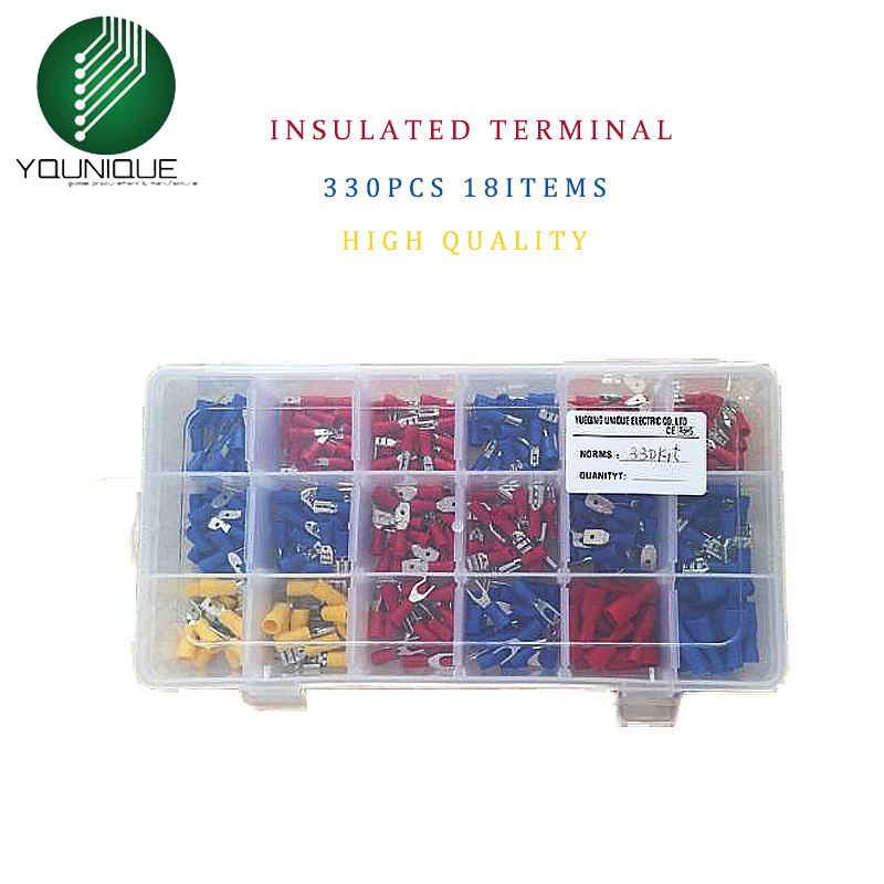 Fork Set Insulated End Ferrules Connector Electrical Crimp Butt Spade Terminals