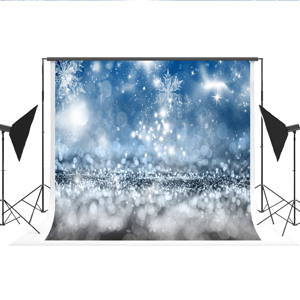 Kate Snowflake Background Photography No Wrinkle Seamless Bokeh Photo Backdrops Photocall for Photography Fond Studio 7x5ft