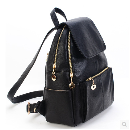 Famous Brand Preppy Style Leather School Backpack Bag For College Simple Design women Casual Daypacks mochila