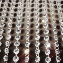 Все цвета 10 метров Гирлянды Висячие Хрустальные стеклянные бусины занавес цепи, украшенные бриллиантами вечерние Дерево Свадебный центральный Декор