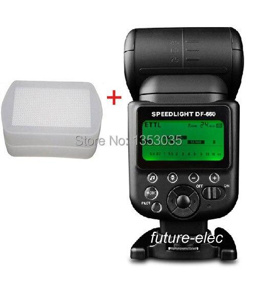 Us 8511 Gorąca Sprzedaż Stander Df 660 Ittl Bezprzewodowa Lampa Błyskowa światło Lampy Błyskowej Lampa Błyskowa Speedlite Do Nikon D5000 D5100